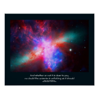 Desiderata quote - The Active Cigar Galaxy Poster
