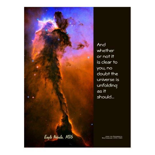 Desiderata Quote - Tower in Eagle Nebula, M16 Postcard