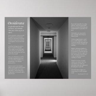Desiderata - Receding Corridor print