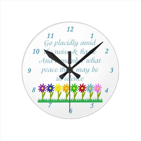 Desiderata Round Clock