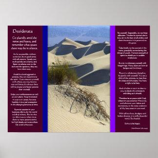 DESIDERATA Sand Dooms Posters