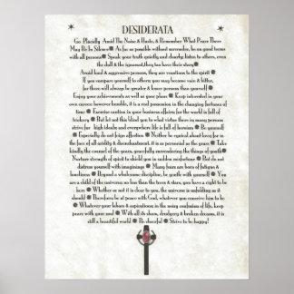 DESIDERATA Scepter Crucifix Print