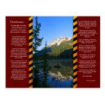 DESIDERATA Snow Peak Mountain Postcard