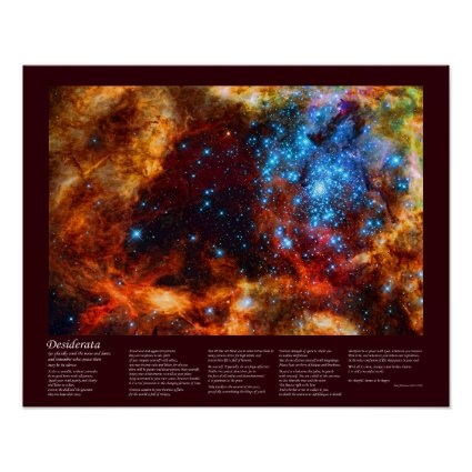 Desiderata - Stellar Nursery in Tarantula Nebula Poster