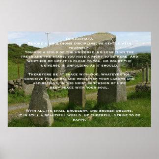DESIDERATA Stone Posters Poster