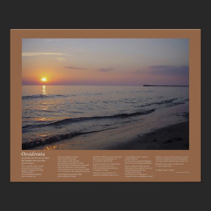 Desiderata - Sunset Beach Waves Posters