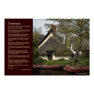 Desiderata - Thatched Cottage of Willy Lott Poster