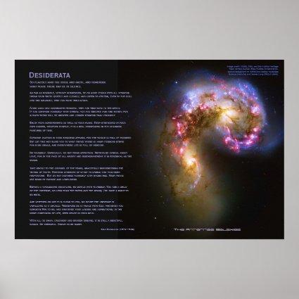 Desiderata - The Antennae Galaxies Print