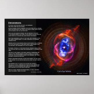 Desiderata - The Cats Eye Nebula Print