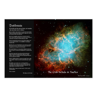 Desiderata - The Crab Nebula in Taurus Poster