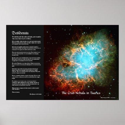 Desiderata - The Crab Nebula in Taurus Poster