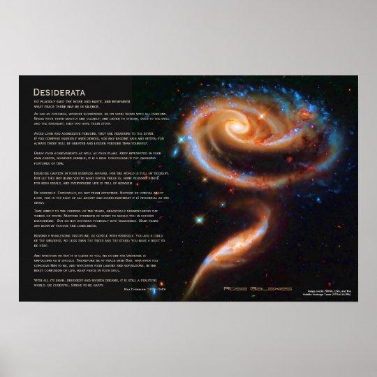 Desiderata - The Rose Galaxies, Arp 273 Poster