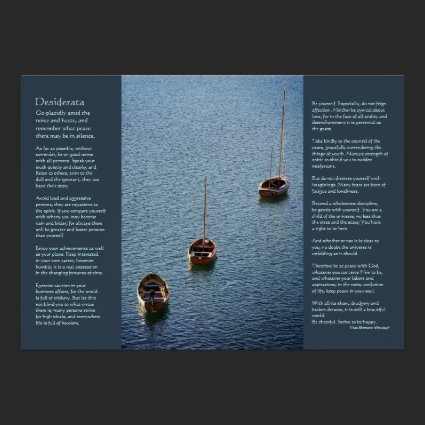 Desiderata - Three Boats on the Water Print