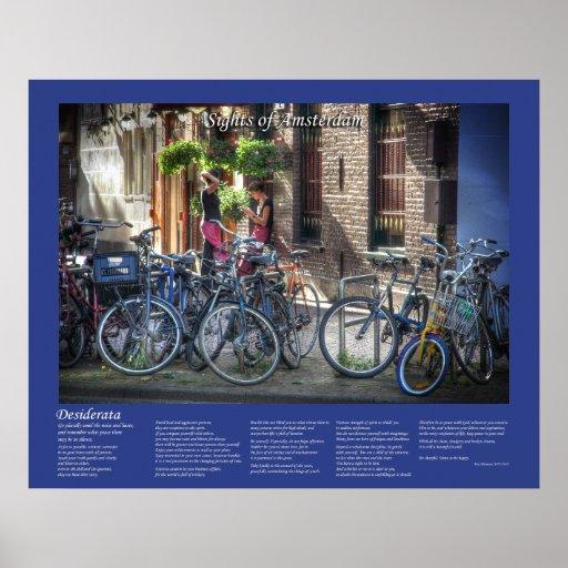 Desiderata - Typical Amsterdam Street Scene Poster