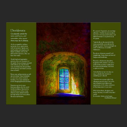 Desiderata - Wishing Window Poster