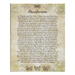 DESIDERATA with Careful Butterflies Poster