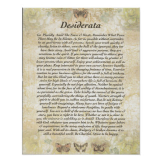 DESIDERATA with Cheerful Butterflies Poster