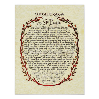 DESIDERATA with Wreath Trim Poster