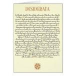 DESIDERÁTUMS Card=Sunburst Tarjetas