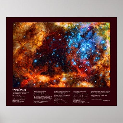 Desiderátums - cuarto de niños estelar en nebulosa póster