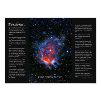 Desiderátums - cuartos de niños estelares RCW120 Póster