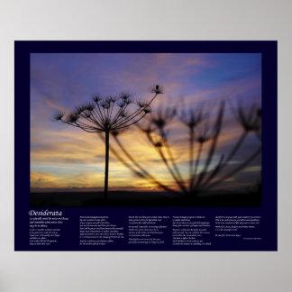 Desiderátums - ecos de la puesta del sol del otoño póster