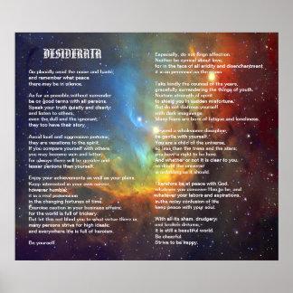 Desiderátums en galaxia del tulipán póster