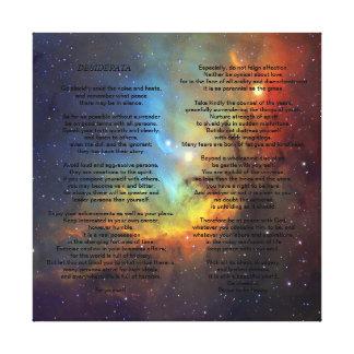 Desiderátums en la galaxia de Pleiades Impresiones En Lona Estiradas