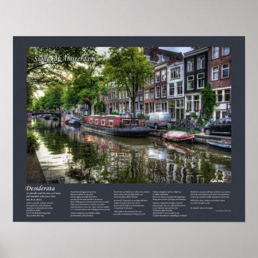 Desiderátums - escena reservada del canal, Amsterd Posters