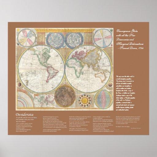 Desiderátums - mapa de Viejo Mundo, 1794 Posters