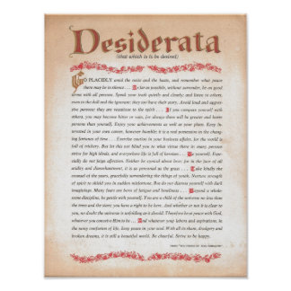 DESIDERÁTUMS POSTERS