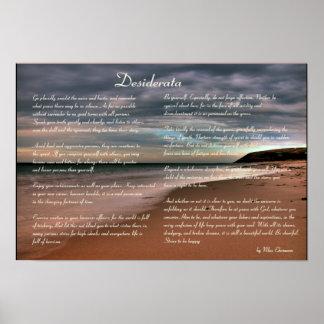 Desiderátums poema y costa inspirados impresiones