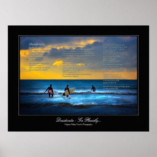 Desiderátums - practicando surf en el estilo de la impresiones