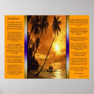 Desiderátums que encantan el poster del oasis de