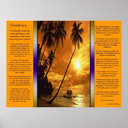 Desiderátums que encantan el poster del oasis de l
