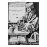 Desiderius Erasmus  of Rotterdam, 1526 Greeting Card