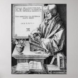 Desiderius Erasmus  of Rotterdam, 1526 Poster