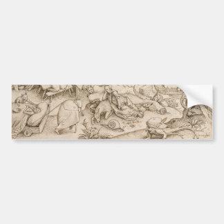 Desidia (pereza) por Pieter Bruegel la anciano Pegatina Para Coche