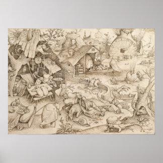 Desidia (pereza) por Pieter Bruegel la anciano Impresiones