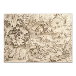 Desidia (Sloth) by Pieter Bruegel the Elder Card