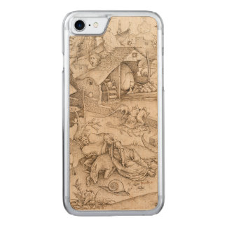 Desidia (Sloth) by Pieter Bruegel the Elder Carved iPhone 7 Case