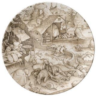 Desidia (Sloth) by Pieter Bruegel the Elder Dinner Plate