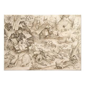 Desidia Sloth by Pieter Bruegel the Elder Photo Print