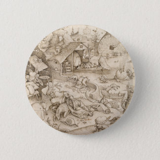 Desidia (Sloth) by Pieter Bruegel the Elder Pinback Button