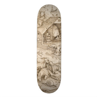 Desidia (Sloth) by Pieter Bruegel the Elder Skateboard Deck