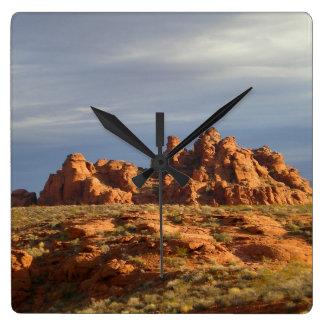 Desierto al sudoeste reloj cuadrado
