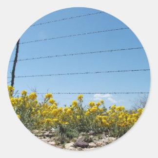 Desierto amarillo Wildlfowers Pegatinas