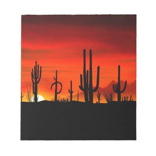 Desierto Arizona de Sonoran de los Saguaros de la  Libreta Para Notas
