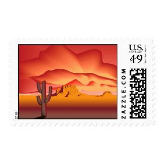 Desierto - belleza cruda timbres postales