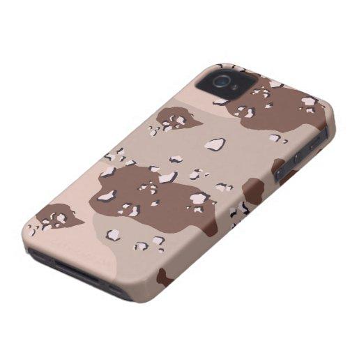 Desierto Camo Blackberry intrépido iPhone 4 Case-Mate Coberturas
